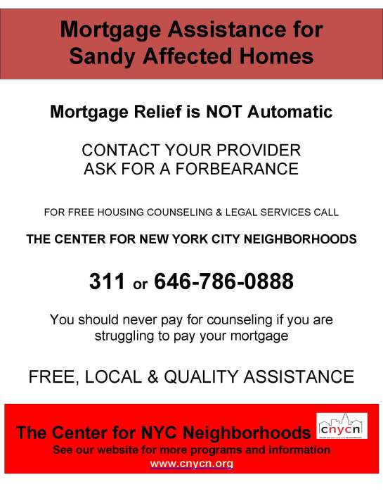 Mortgage assistance