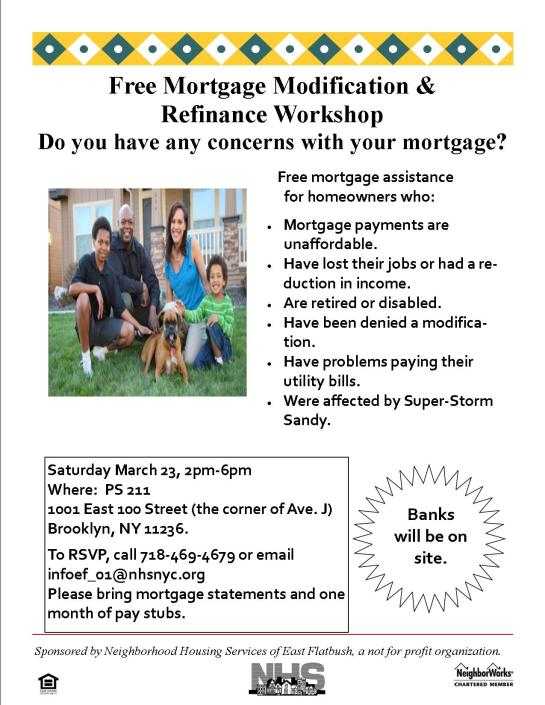 Foreclosure Prevention and Mortgage Assistance Workshop