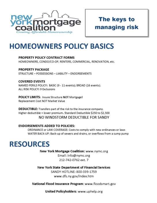 Homeowner Policy Basics
