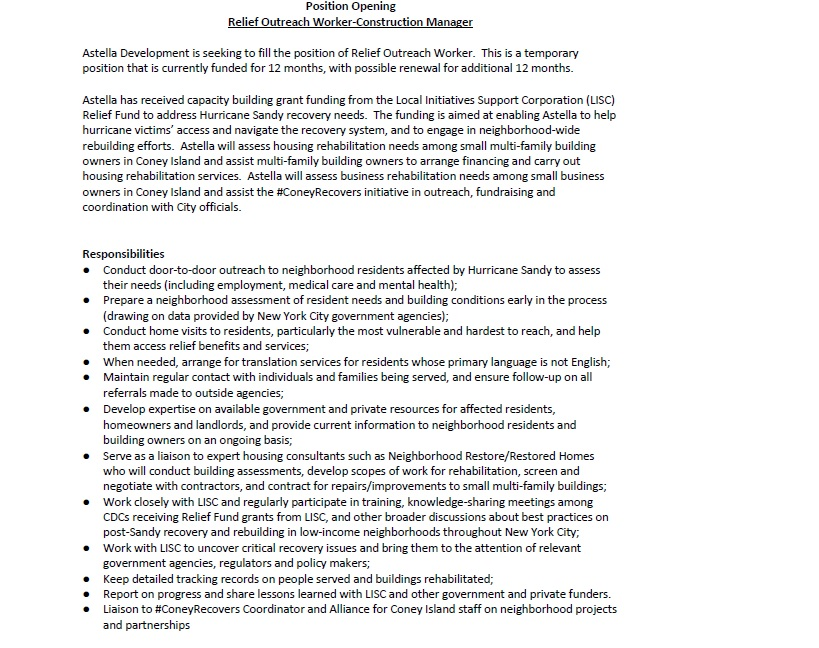 april 2013 brooklynltrgroup page 2 - Outreach Worker Sample Resume