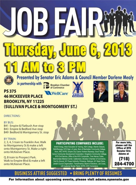 JOB FAIR THURSDAY JUNE 6, 2013
