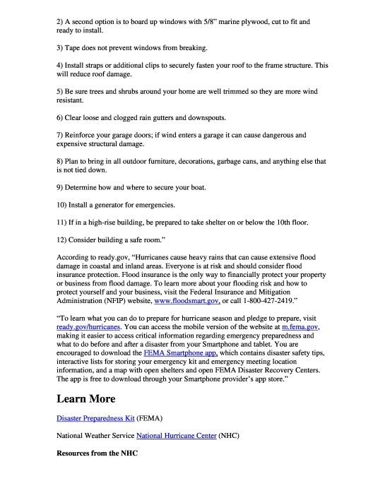 The 2013 Atlantic Hurricane Season Begins June 1 pg. 2