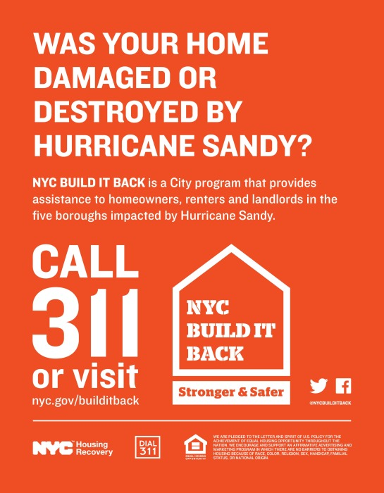 NYC Build It Back Flyer - English