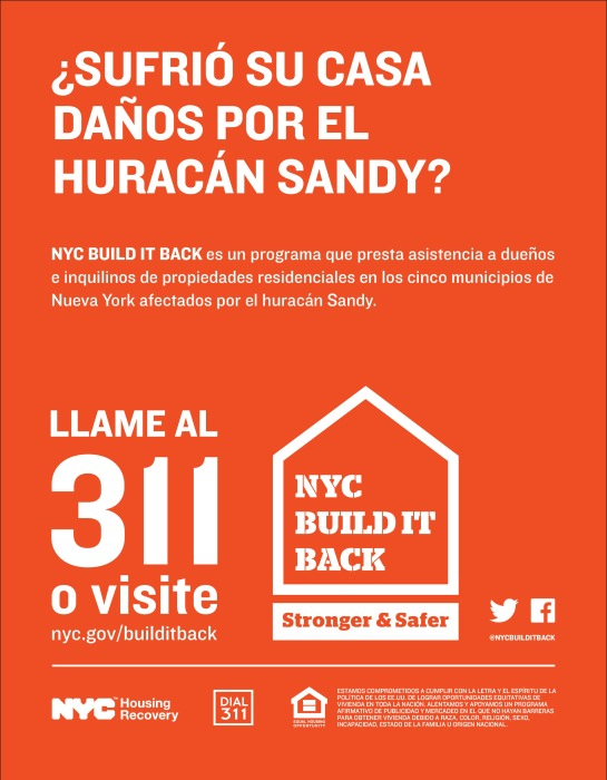 NYC Build It Back Program - Spanish