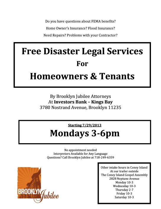 Free Disaster Legal Services for Homeowners and Tenants