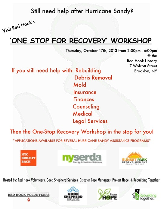 One Stop For Recovery Workshop October, 17, 2013 2 pm to 6 pm