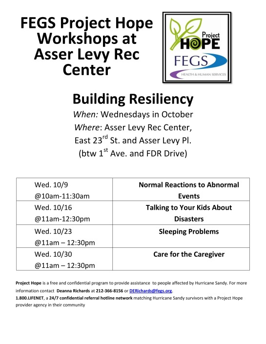 Project Hope Workshops @ Asser Levy Rec Center