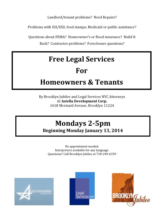 Free Legal Services For Homeowners And Renters Sponsored By Brooklyn Jubilee