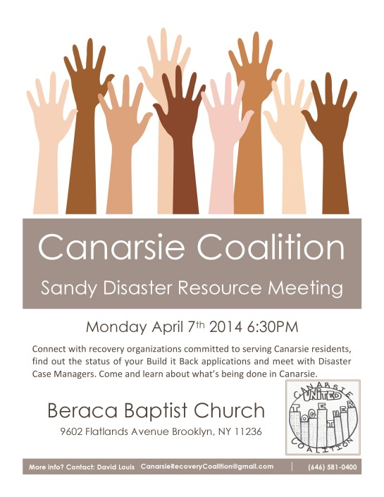 Canarsie Coalition Resource Meeting 4.7.14